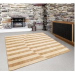 ラグマット 絨毯 / 130×190cm 長方形 アイボリー / 日本製 レベルカット仕様 抗菌加工 〔リビング ダイニング〕 『ダリア』 九装