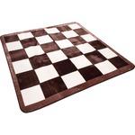 ラグ カーペット ホットカーペット ホットカーペット対応 肌触り抜群 チェス 幅185x奥行185cm ブラウン