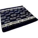 ラグ カーペット ホットカーペット ホットカーペット対応 流行の文字柄デザイン ボーダーロンドン2 幅185x奥行185cm ネイビー