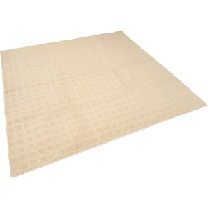カーペット ラグ 平織 レベルループ / 約3.7畳 240×240cm ベージュ クロス