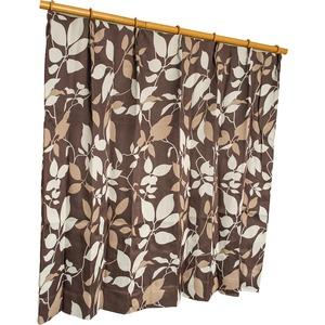 カーテン 2枚組 2枚セット 2P 防炎 2級遮光 100×丈200cm ブラウン パルク - 拡大画像