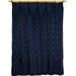 カーテン 洗える ウォッシャブル 洗える 2重加工 円柄 200×丈178cm ネイビー カールス
