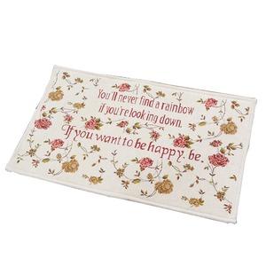 玄関マット マット 室内 屋内 かわいい 花柄 70×120cm ローズ