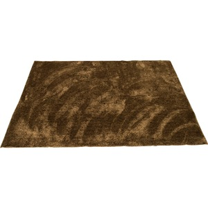 カーペット ラグ 敷物 室内 芝生ラグ 190×190cm ブラウン オーシャン