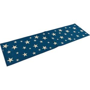 キッチンマット マット キッチン 台所 星柄 50×120cm ブルー スターズ