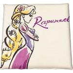 ディズニー ラプンツェル クッション 40×40cm アイボリー ラプンツェル手描き風 柄