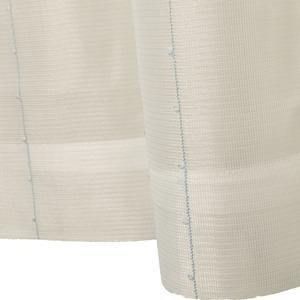 刺繍 レースカーテン ライン柄 幅200×丈223cm 1枚入 ブルー ピコン 九装 - 拡大画像