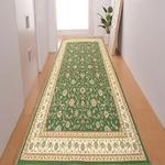 廊下敷き プリント 80×330cm グリーン ロータス