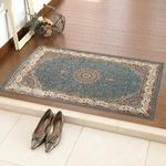 玄関マット 室内 プリント 70×120cm ブルー スタン2