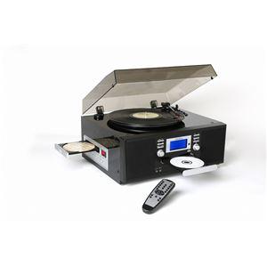 ダブルCDマルチプレーヤー/レコードプレーヤー 【ピアノブラック】 スピーカー内蔵 とうしょう TS-7885PBL - 拡大画像