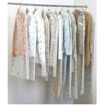 ティッシュ式洋服カバー50枚セット(クローバー柄)