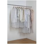 ティッシュ式洋服カバー30枚セット(モダンフラワー柄)