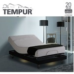 TEMPUR モダンスタイリッシュな電動リクライニングベッド ダブル 【ベッドフレームのみ】 ブラック 『テンピュール Zero-G Curve』 正規品 20年限定保証付き