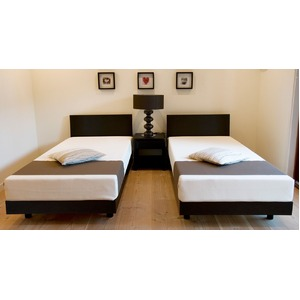 TEMPUR 木製ベッド シングル 【ベッドフレームのみ】 ブラウン 天然木タモ材使用 『テンピュール Natur』 正規品 1年保証付き - 拡大画像
