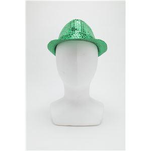 【コスプレ】 スパンコールハット /帽子 【グリーン】 ポリエステル製 頭囲約60cm 〔イベント 仮装 舞台小物〕