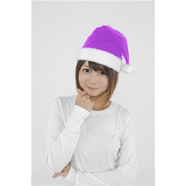 サンタ帽子ライトパープル-クリの画像1