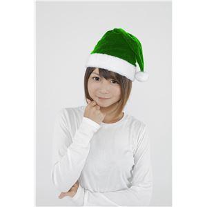 【クリスマスコスプレ】サンタ帽子 グリーンの画像