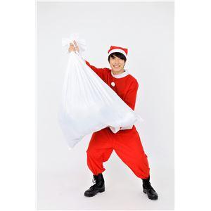 サンタさんの袋/サンタコスプレ 【83cm×75cm】 ポリエステル 〔クリスマス パーティ〕 - 拡大画像