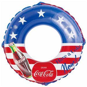 浮き輪 【100cm】 コカ・コーラ スター柄 塩化ビニール樹脂製 〔プール ビーチ 海外旅行〕 - 拡大画像