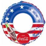 浮き輪 【100cm】 コカ・コーラ スター柄 塩化ビニール樹脂製 〔プール ビーチ 海外旅行〕