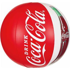 ビーチボール 【50cm】 コカ・コーラ コンツアーボトル柄 塩化ビニール樹脂製 〔プール ビーチ 海外旅行〕 - 拡大画像