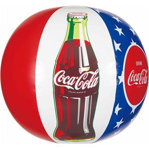 ビーチボール 【50cm】 コカ・コーラ スター柄 塩化ビニール樹脂製 〔プール ビーチ 海外旅行〕 - 拡大画像