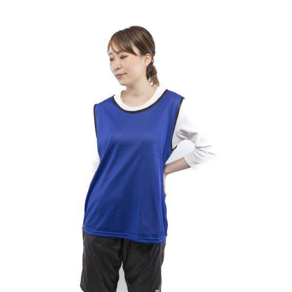ビブス 5着セット ブルー 大人用フリーサイズ