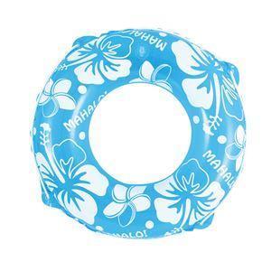 浮輪 70cm 蛍光カラー ブルー - 拡大画像