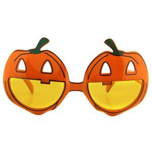 (まとめ)パンプキンメガネ【×2点セット】 - 拡大画像