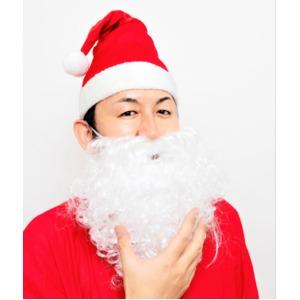 サンタさんのひげ(カール)〔クリスマス パーティ〕 - 拡大画像