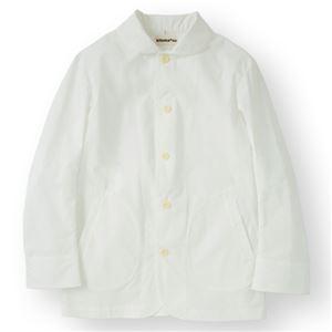 男性コックジャケットツイル ホワイト Lサイズ KMJ2770-1