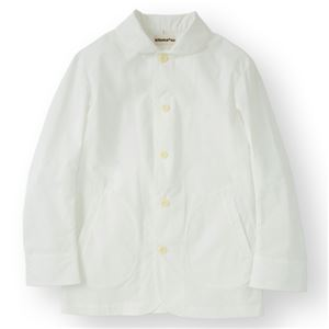 男性コックジャケットカツラギ ホワイト Lサイズ KMJ2780-1