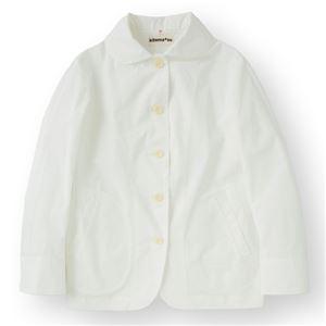女性コックジャケットツイル ホワイト Lサイズ KMJ2771-1