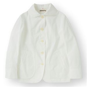 女性コックジャケットツイル ホワイト LLサイズ KMJ2771-1