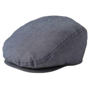 ダンガリーハンチング帽子 ブラック KMCH2960-3