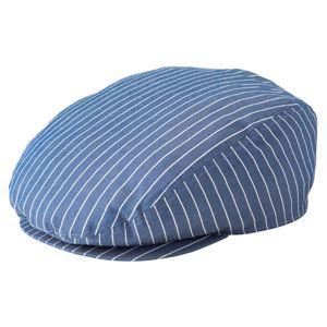 ストライプハンチング帽子 ブルー KMCH2961-22 - 拡大画像