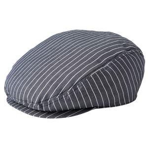 ストライプハンチング帽子 ブラック KMCH2961-23 - 拡大画像