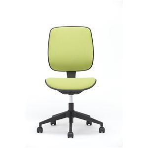 座面昇降式オフィスチェア/デスクチェア 【ファブリック素材×グリーン】 キャスター付き 『ブリーズ』 - 拡大画像