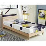 宮付き シンプルモダン すのこベッド セミダブル (フレームのみ) オークホワイト 『Claude』 ベッドフレーム