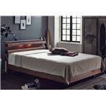 おすすめ すのこベッド 照明付き 宮付き 二口コンセント付き 天然木 木製『Manie』ベッドフレーム