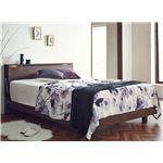 おすすめ すのこベッド 照明付き 宮付き 二口コンセント付き 天然木 木製『Berg』ベッドフレームのみ
