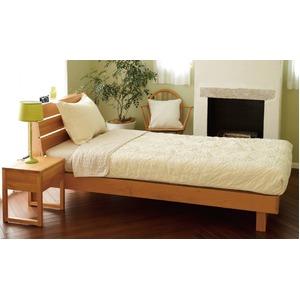 宮付き 二口コンセント付き アルダー材 すのこベッド シングル (フレームのみ) ナチュラル 『Secta』 ベッドフレーム - 拡大画像