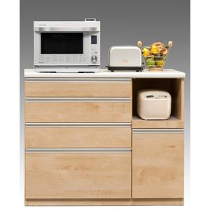 【開梱設置費込】キッチンカウンター ESシリーズ 120cm幅 レンジ台 メープル色 ハイタイプ 【日本製】 - 拡大画像