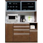 【開梱設置費込】食器棚 RNシリーズ 150cm幅 ダイニングボード キッチンボード 木目 ウォールナット 【日本製】