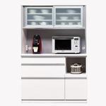 【開梱設置費込】食器棚 NTLシリーズ120cm幅 高さ180cm ダイニングボード ホワイト ハイグロス 【日本製】