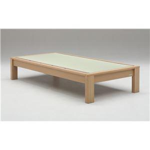 畳ベッド【ベッドフレームのみ】【スミカ】 (セミダブル・ブラウン・ヘッドレス) グランツ GLANZ - 拡大画像