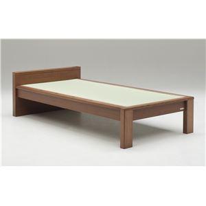 畳ベッド【ベッドフレームのみ】【スミカ】 (セミダブル・ブラウン・フラットタイプ) グランツ GLANZ