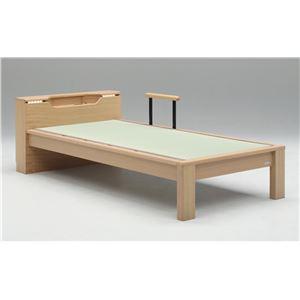 畳ベッド【ベッドフレームのみ】【スミカ】 (セミダブル・ブラウン・キャビネットタイプ) グランツ GLANZ