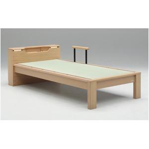 畳ベッド【ベッドフレームのみ】【スミカ】 (セミダブル・ナチュラル・キャビネットタイプ) グランツ GLANZ