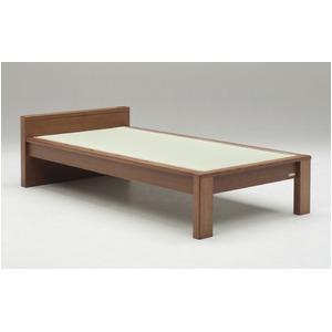 畳ベッド【ベッドフレームのみ】【スミカ】 (シングル・ブラウン・フラットタイプ) グランツ GLANZ